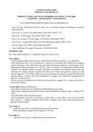 per l'anno 2008 aliquote – detrazioni - Comune di Pianoro