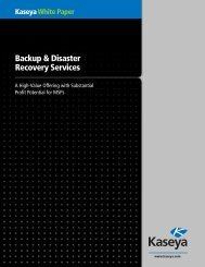 Kaseya White Paper Backup & Disaster Recovery Services