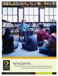 Year Five, Quarter 4 2007 - NCCRESt