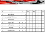 Maxell iPod Accessories Compatibility Chart - Maxell Canada