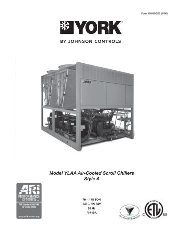 model-ylaa-air-cooled-scroll-chillers-style-a-johnson-controls Ycas Chiller Wiring Diagram on