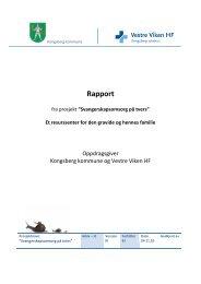 samhandlingsprosjekter_svangerskap_sluttrapport - Vestre Viken HF