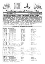 Pfarreiengemeinschaft Münster Südost - St Nikolaus Wolbeck
