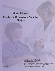Saskatchewan Paediatric Respiratory Medicine Review - The Lung ...