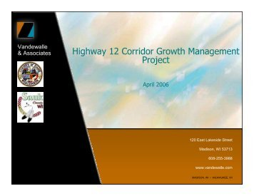 Highway 12 Corridor Growth Management Project - American ...