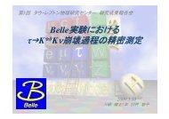 Belle実験における Belle実験における τ→K* Kν崩壊過程の精密測定