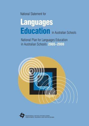 National Statement for Languages Education in Australian Schools