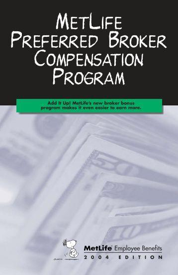 MetLife 2004 Bonus Program - First National Administrators