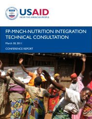 fp-mnch-nutrition integration technical consultation - ESD Project