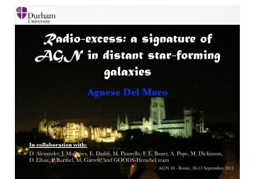 Radio-excess: a signature of AGN in distant star-forming galaxies