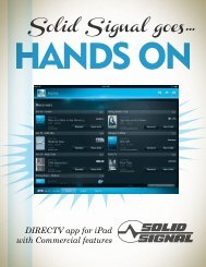ADVANCED COAX NETWORKING FOR DIRECTV - Solid Signal