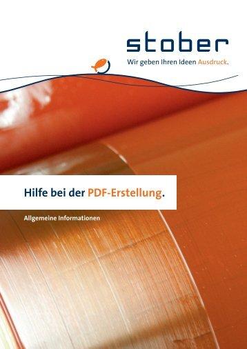 Hilfe bei der PDF-Erstellung. Allgemeine Informationen