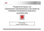 Programa de Apoyo a la Organización Latinoamericana y ... - olacefs