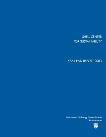 Shell Center Annual Report (2003) - Shell Center for Sustainability ...