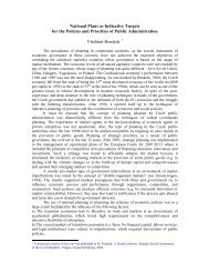 National Plans as Indicative Targets for the Policies and Priorities of ...