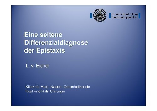 Differentialdiagnose der Epistaxis