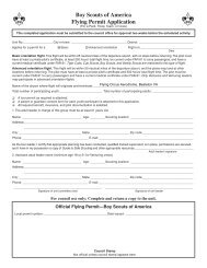 Flying Permit Application