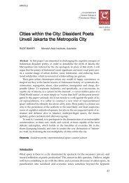 Cities within the City - Jabatan Bahasa dan Kebudayaan Melayu