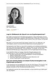 Liegt im Wettbewerb unsere Zukunft - Ergotherapie Jacqueline Bürki