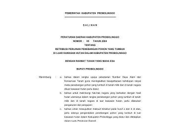 pemerintah kabupaten probolinggo salinan peraturan daerah ...