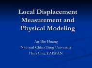 Local displacement measurement and physical modeling, An-Bin ...