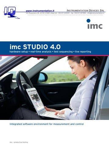 imc STUDIO 4.0 - INSTRUMENTATION DEVICES