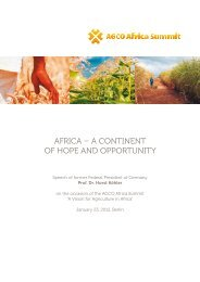 Dinner Speech: Prof. Dr. Horst Köhler - Africa Summit