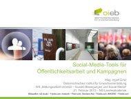 PPT Social-Media-Tools für Öffentlichkeitsarbeit - Österreichisches ...