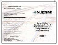 General Safety Regulation for Third Party Construction - Metrolink
