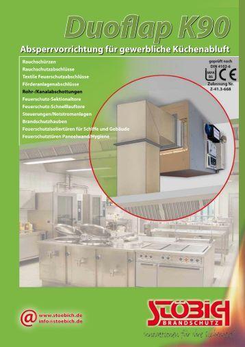 Absperrvorrichtung für gewerbliche Küchenabluft - Stöbich ...