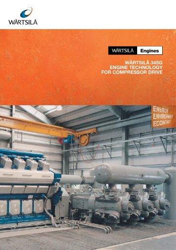 wärtsilä 34sg engine technology for compressor drive