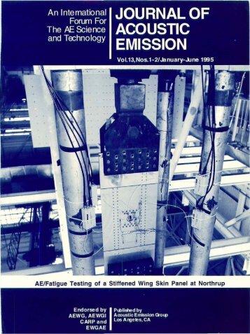 Journal of AE, Volume 13, 1995 - AEWG