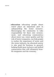 e d u c a t i o n educating people about water plays an ... - Water UK