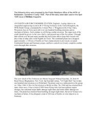 Hail to the Crew Chief - 447th Bomb Group