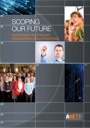 scoping our future - ANET - Australian National Engineering Taskforce