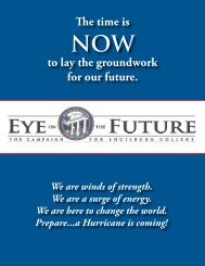 The time is to lay the groundwork for our future. - Louisburg College