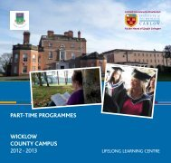 Wicklow Part-Time Courses - Institute of Technology Carlow