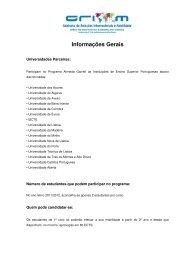 Informações Gerais - Universidade de Trás-os-Montes e Alto Douro