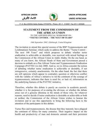 AFRICAN UNION - Union africaine