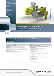 Dosing pumps MilRoyAl® d - Hyxo
