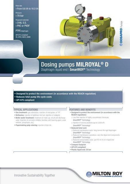 Dosing pumps MilRoyAl® d - Hyxo