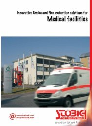 Special applications for medical facilities - Stöbich Brandschutz