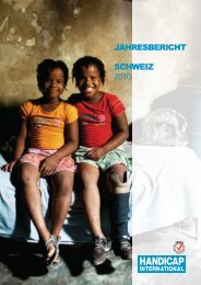 2010 : 310 Projekte in 63 Ländern - Handicap International