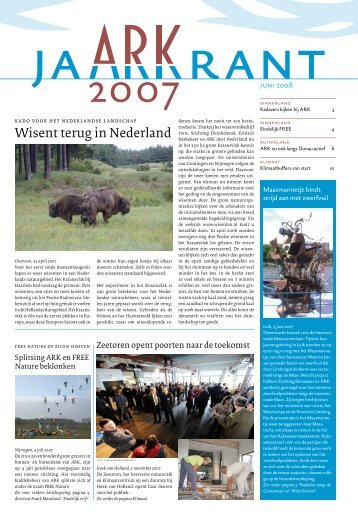 Wisent terug in Nederland - ARK Natuurontwikkeling