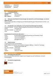Sicherheitsdatenblatt Botector - BIOFA