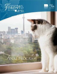 FINAL PROGRAM - DEVTP - American Animal Hospital Association