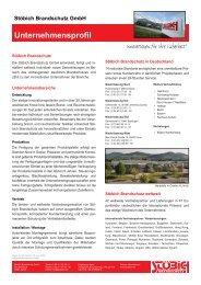 Stöbich Brandschutz GmbH Unternehmensprofil