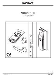 ABLOY® EC102 – Käyttöohje - Abloy Oy