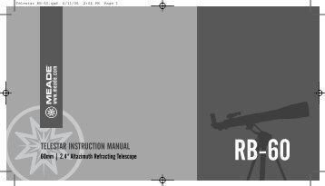 Rb-60 Telestar Instruction Manual - Meade
