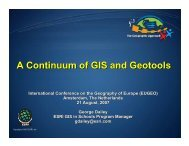 GIS and Geotools - HERODOT Network for Geography in Higher ...